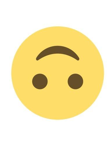 9781534839649: Emoji Notebook   upside-down face: Lined   8.5
