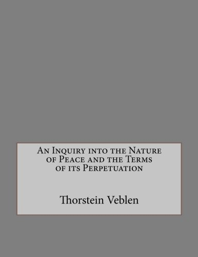 9781534854789: An Inquiry into the Nature of Peace and the Terms of its Perpetuation