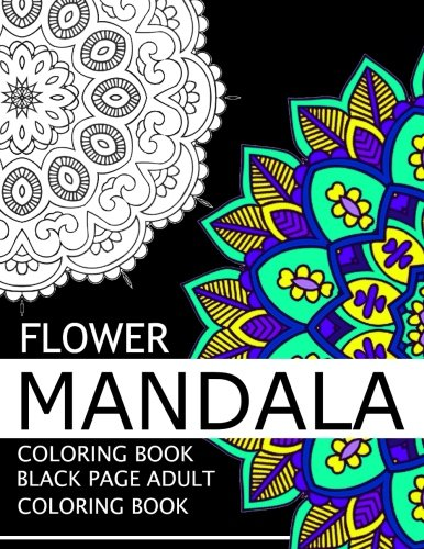 9781534870765 Flower Mandala Coloring Book Black Page And One Side Paper Adult