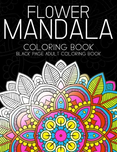 9781534870802 Flower Mandala Coloring Book Black Page And One Side Paper Adult