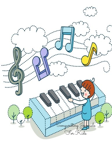 Songwriting Journals For Kids: Keyboard Lined/Ruled Paper: Insignia Music Books