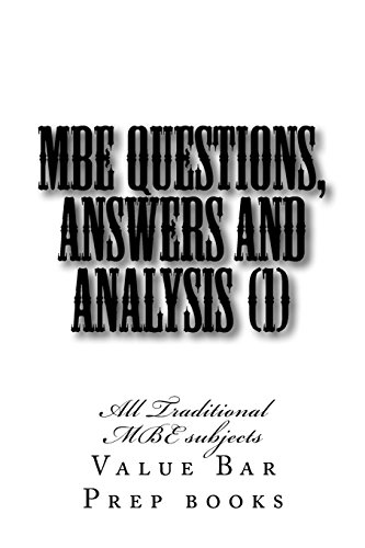 MBE Questions, Answers and Analysis (1): All: Books, Value Bar