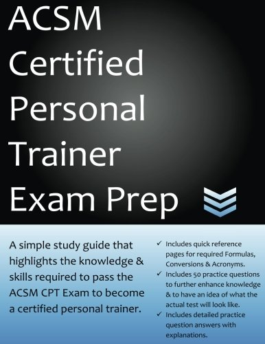 9781534999688: acsm certified personal trainer exam prep: a simple ...