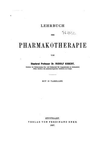 9781535065825: Lehrbuch der Pharmakotherapie