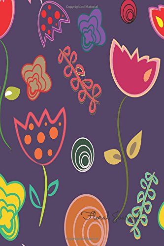 9781535065870: Floral Journal: Purple Notebook To Write In For Men, Women, Girls, Boys, Blank, Unlined, Unruled, Empty Journal 6inx9in 200 Pages (Blank Books)