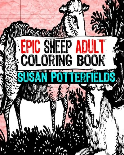 9781535076289 Epic Sheep Adult Coloring Book Books Volume 9