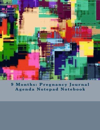 9781535081894: 9 Months: Pregnancy Journal Agenda Notepad Notebook