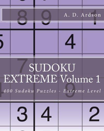 9781535085632: SUDOKU EXTREME Volume 1: 400 Sudoku Puzzles