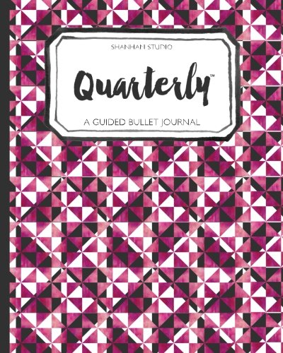 9781535105613: Quarterly Guided Bullet Journal Pink Geo