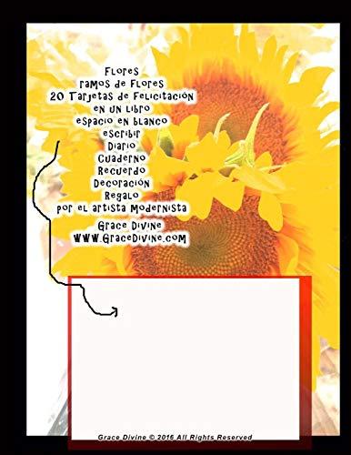 9781535147392: Flores ramos de flores 20 Tarjetas de felicitación en un libro espacio en blanco escribir Diario Cuaderno Recuerdo Decoración Regalo por el artista modernista Grace Divine (Spanish Edition)
