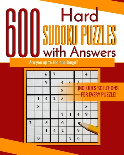 9781535156844: 600 Hard Sudoku Puzzles with Answers: Are you up to the challenge?