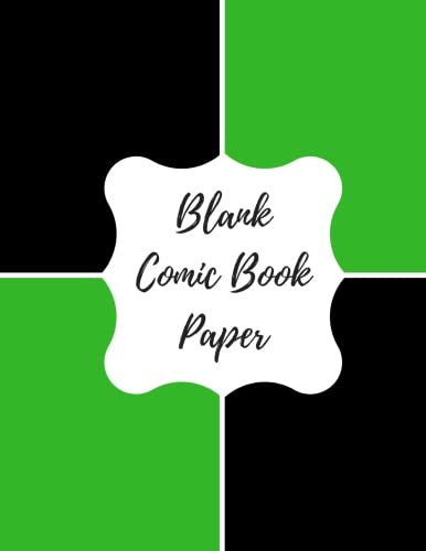 9781535157995: Blank Comic Book Paper: Blank/ Empty Cartoon Strips 8.5 x 11 in 100 Pages Multi Panels Comic Book Paper Template Journal Notebook Format. Build Your Own Comic Book