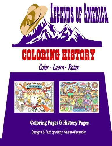 9781535187107: Legends of America's Coloring Book
