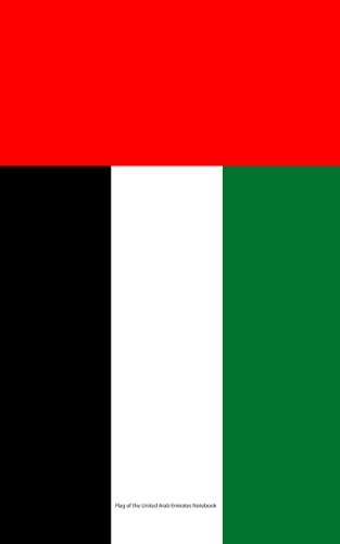 9781535196314: Flag of the United Arab Emirates Notebook: College Ruled Writer's Notebook for School, the Office, or Home! (5 x 8 inches, 78 pages)