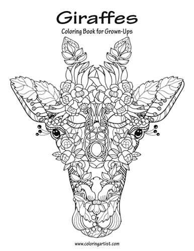 Giraffes Coloring Book for Grown-Ups 1 (Volume 1): Nick Snels