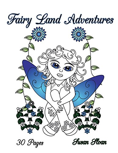 9781535279086: Fairy Land Adventures: Adult Coloring Book