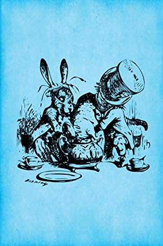 9781535282093: Alice in Wonderland Journal - Mad Hatter's Tea Party (Bright Blue): 100 page 6