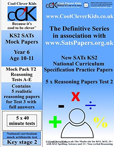 9781535305327: SATs KS2 Year 6 Maths Reasoning Papers 2 (Paper 2) (Volume 1)