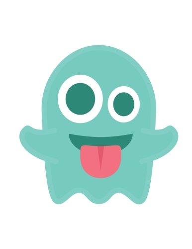 9781535312080: Emoji Notebook | ghost: Lined | 8.5