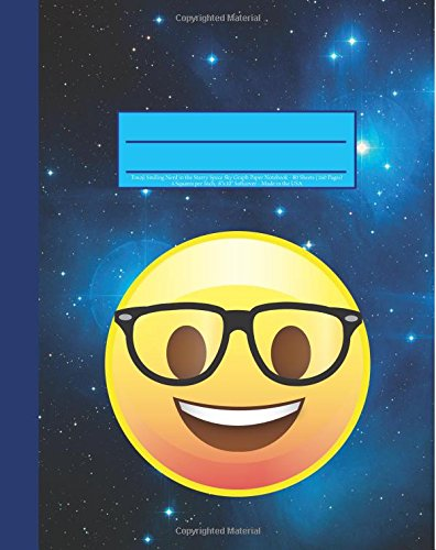 9781535318396 emoji smiling nerd in the starry space sky graph paper notebook 160 page