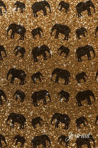 9781535338950: Journal: Faux gold glitter elephant notebook