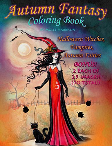 9781535343862: Autumn Fantasy Coloring Book - Halloween Witches, Vampires and Autumn Fairies: Coloring Book for Grownups and All Ages!