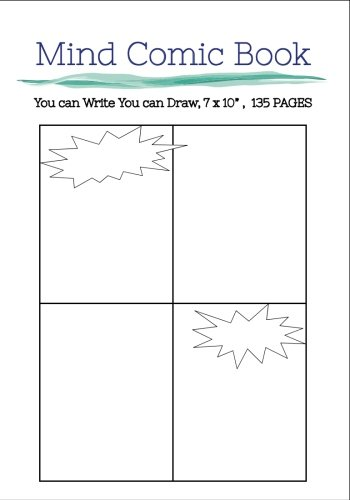 "Mind Comic Book - 7 x 10"" 135 P , 4 Panel, Blank Comic Books ,Create By Yourself: Make your own..."