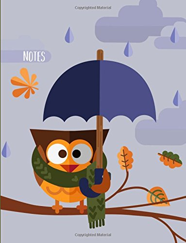 9781535389266: Notes: Owl Holding Umbrella Notebook for Girls