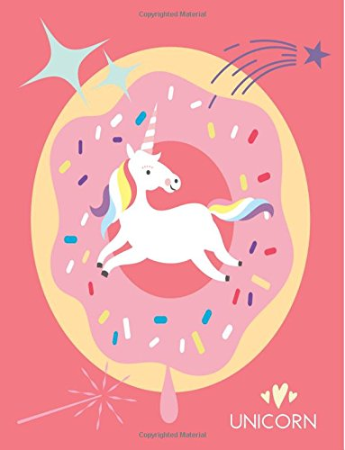 9781535391948: Unicorn: Pink Donut Notebook (Composition Book, Journal) (8.5 x 11 Large)