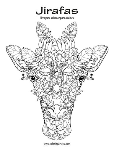 9781535393133: Jirafas libro para colorear para adultos 1 (Volume 1) (Spanish Edition)