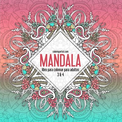 9781535393553: Mandala libro para colorear para adultos 3 & 4