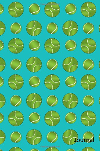 9781535397322: Journal: Turquoise tennis balls notebook