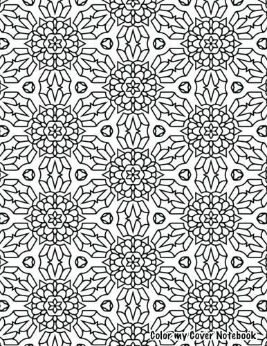 9781535397551: Color My Cover (flower kaleidoscope, 200pg): Therapeutic notebook for writing, journaling, and note-taking with coloring design on cover for inner ... Cover Notebooks and Journals (Volume 31)