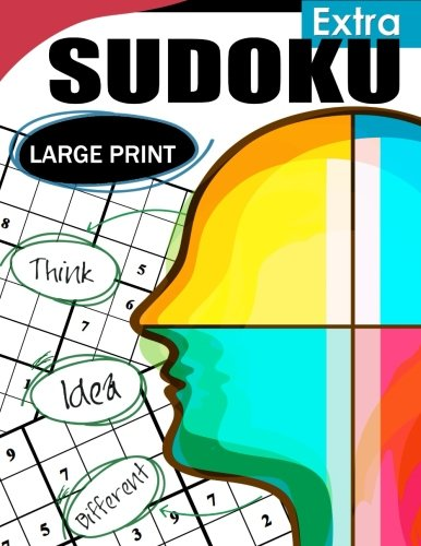 9781535431934: Extra Sudoku Large Print: Easy, Medium to Hard Level Puzzles for Adult Sulution inside