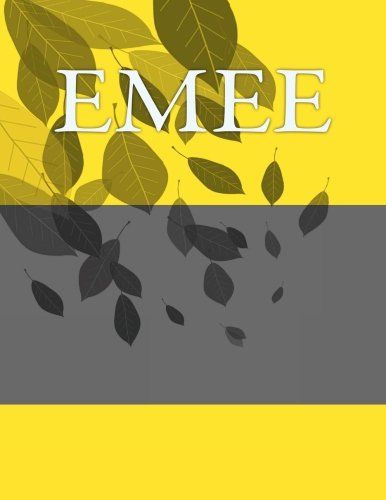 9781535447836: Emee: Personalized Journals - Write In Books - Blank Books You Can Write In