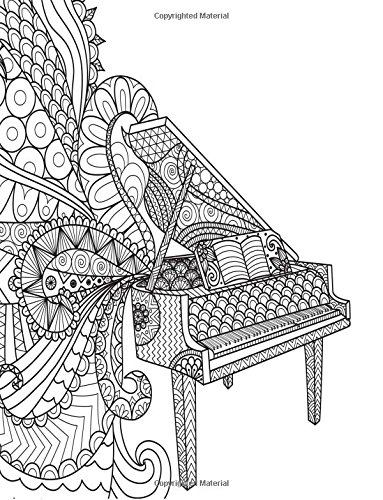 9781535456883: Grid Journal: Zentangle Piano Cover Diary Notebook: 8.5 x 11 size 130 pages, perfect for bullet journaling!