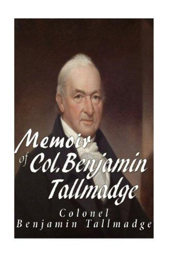 9781535480901: Memoir of Col. Benjamin Tallmadge
