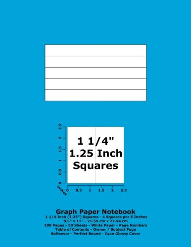 9781535508056: Graph Paper Notebook: 1.25 Inch (1 1/4