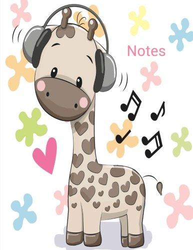 Notes: Giraffe Notebook (Composition Book, Journal) (8.5 x 11 Large): Joy Tree Journals