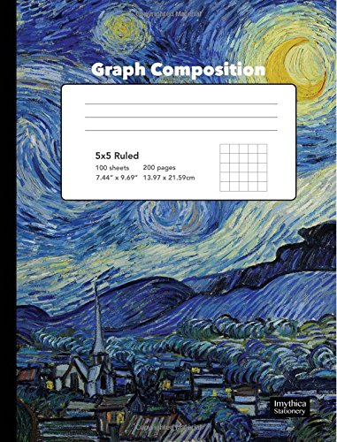 9781535588195: Starry Night Graph Composition Book 5 x 5 Squared Paper