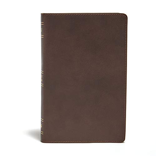 KJV Ultrathin Reference Bible, Brown Genuine Leather: CSB Bibles by Holman CSB Bibles by Holman