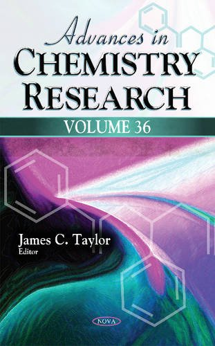 Advances in Chemistry Research: Taylor, Jamesc