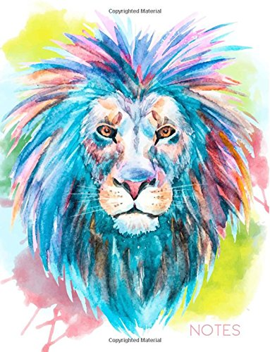 9781536803044: Notes: Lion Notebook, 8.5 x 11
