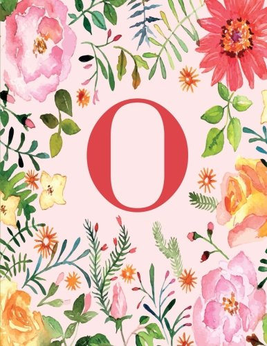 9781536804348: O: Monogram Initial O Notebook for Women, Girls and School, Pink Floral 8.5 x 11