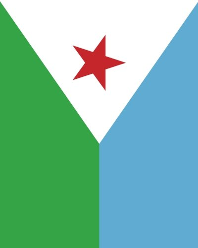 9781536808315: Flag of Djibouti Notebook: College Ruled Writer's Notebook for School, the Office, or Home! (8 x 10 inches, 120 pages)