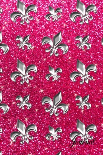 9781536824704: Journal: Faux pink glitter silver feathers notebook