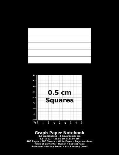 9781536826647: Graph Paper Notebook: 0.5 cm Squares - 8.5