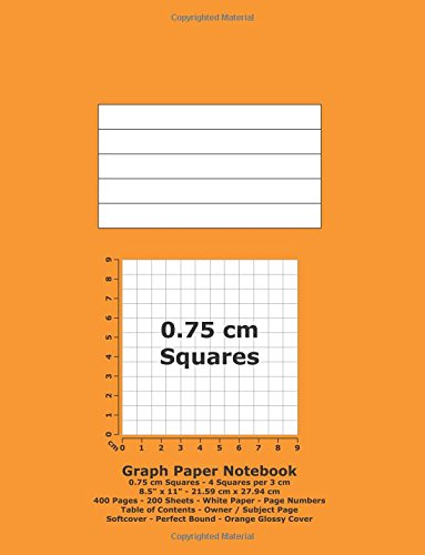 9781536827828: Graph Paper Notebook: 0.75 cm Squares - 8.5