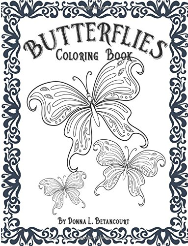 9781536855135: Butterflies Adult Coloring Book