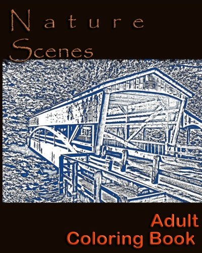 9781536855272: Nature Scenes: Adult Coloring Book